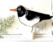 Oystercatcher pottery ornament
