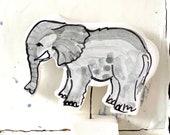 Elephant pottery ornament