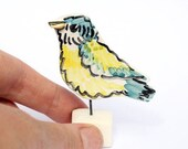 Bluetit ornament -bird watcher gift - Louise Crookenden-Johnson - LouiseCJceramics