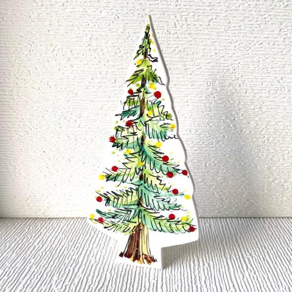 Fir Tree pottery ornament / christmas ceramic gift