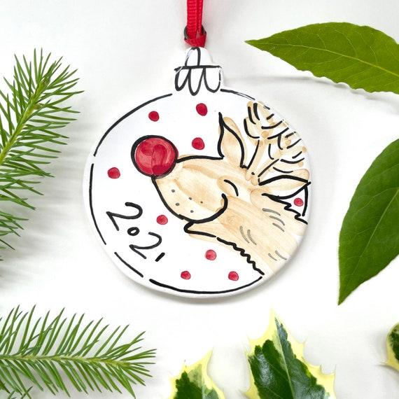 Rudolf hanging ceramic deco