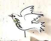 Dove pottery ornament