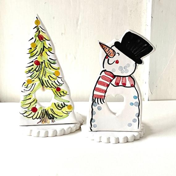 Tealight Christmas tree pottery stand