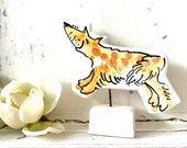 Fox pottery ornament