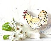 Chicken ceramic ornament