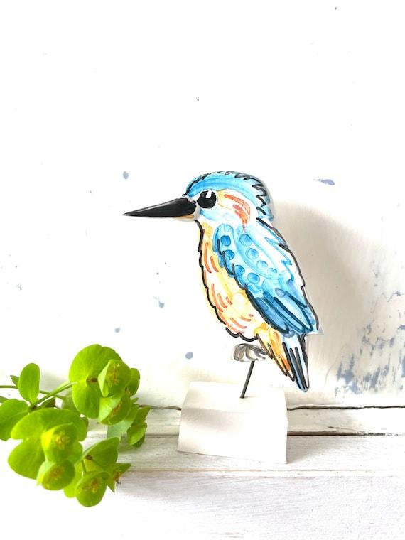 Kingfisher pottery ornament