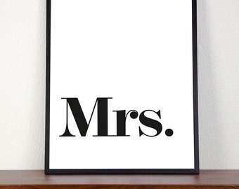 Art printing   Typography   Mrs.