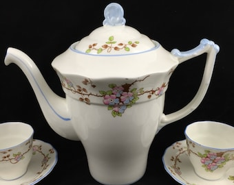 Vintage 1930's Old Royal China coffee set by Sampson Smith