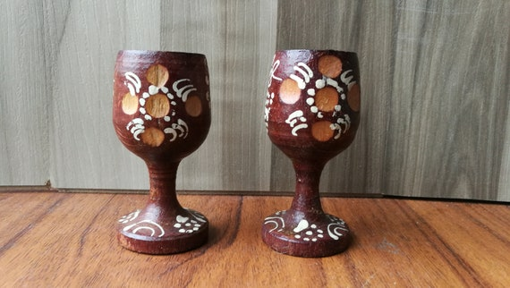 Pleasant Cups With A Wooden Stool Wooden Cups Vintage Small Wooden Cups Drinking Cups Wooden Bowl Decorative Cups Wooden Coasters Andrewgaddart Wooden Chair Designs For Living Room Andrewgaddartcom
