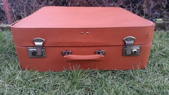 Large suitcase / Vintage suitcase /Antique large s