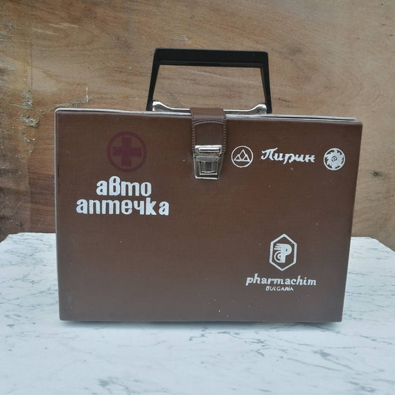 Vintage box Made in Bulgaria. First aid kit Medical suitcase Old first aid kit First aid bag Emergency medical help