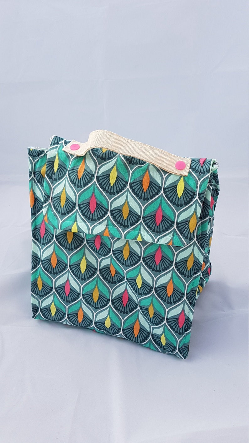 Lunch bag: insulated lunch bag to carry your meal. Cotton image 0