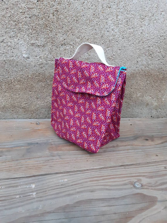 Lunch bag: insulated meal bag. Gift idea mistress, master, ATSEM. Colors available on request, fast shipping!