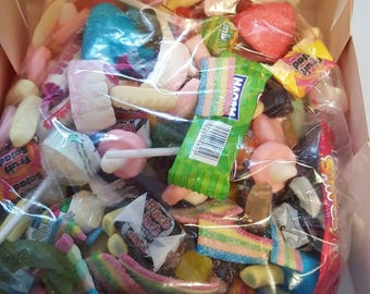 sweets 1kg. Boxed with choice of ribbon colour, a great selection of sweets, have delivered to a loved one x
