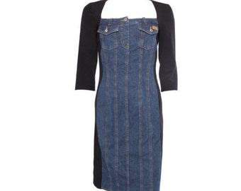 90s Moschino Jeans Vintage Bodycon Denim Dress