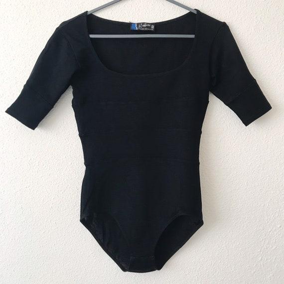 Vintage CLAUDE MONTANA black bodysuit