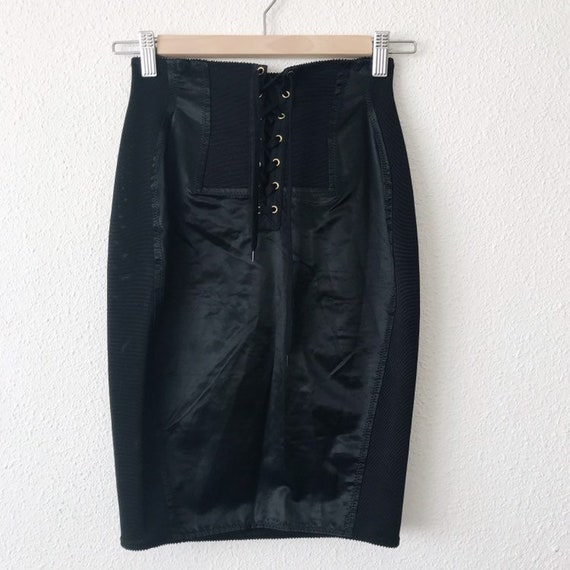 1991 Gaultier Junior black corset skirt