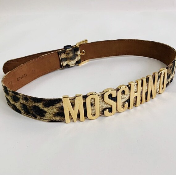 90s MOSCHINO animal print belt