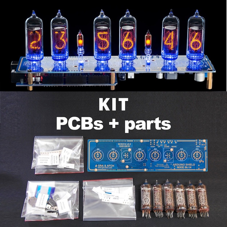 DIY KlT for IN-14 Arduino Shield NCS314 Nixie Clock image 0