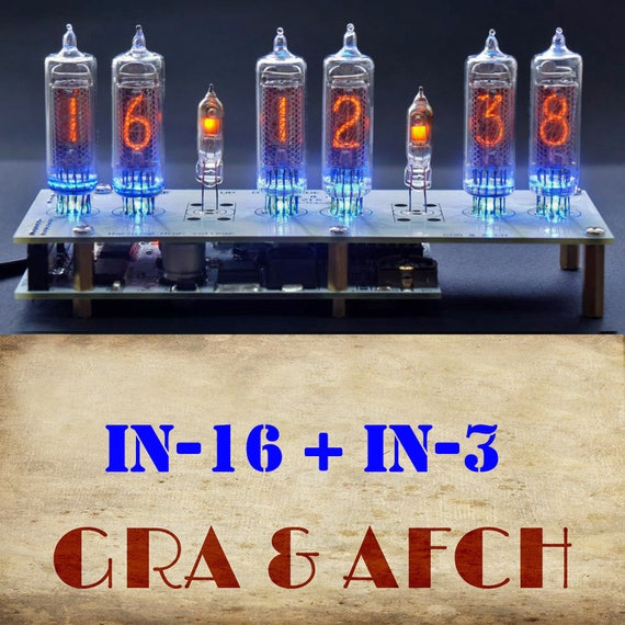 IN-16 Nixie Tubes Clock [RGB, USB, Musical, Arduino compatible]