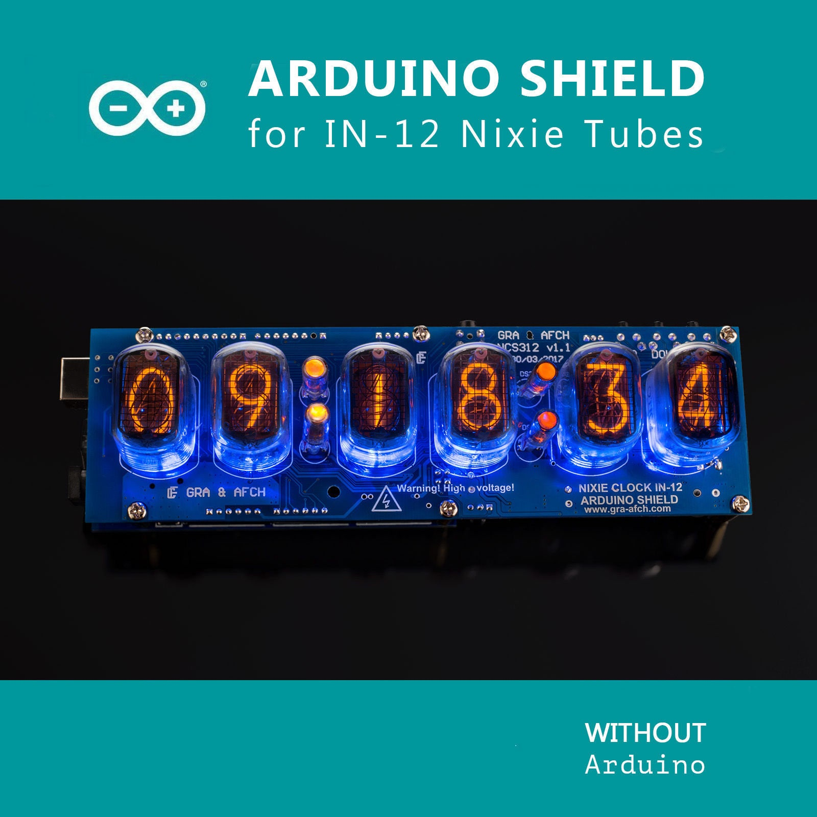 In 12 Nixie Tubes Clock Arduino Shield Ncs312 With Sokets Etsy Tube Further On Schematic 50