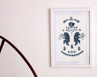 May Day Bear Print