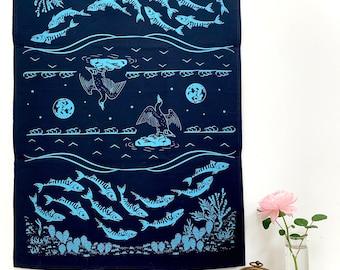 Tea Towel- The Outgoing Tide Organic Kitchen Towel