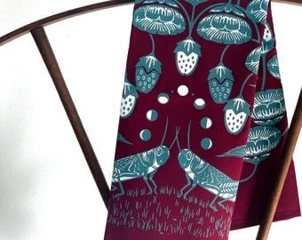 Tea Towel - The Alpine Strawberry Organic Kitchen Towel