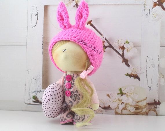 Bambola di pezza fatte a mano nel Regno Unito Tilda doll bambola OOAK bambola di stoffa Helena 6 Pollici DI ALTEZZA