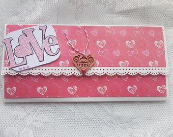 Envelope gift Love pink and white
