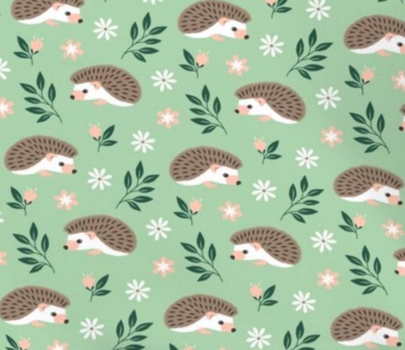 Hedgehog Fun Organic Cotton Snap On Dog /& Pet Bandana