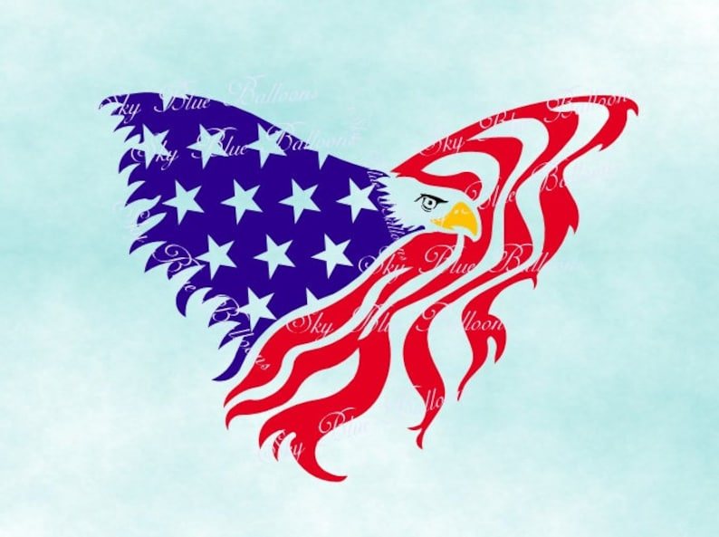 American Flag Svg 4th Of July Svg Eagle Svg American Eagle Etsy