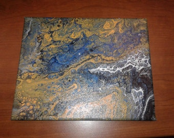 Acrylic Pour Abstract Painting