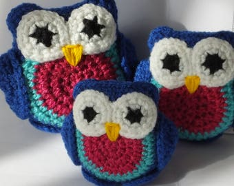 Amigurumi Owls  - Set of Three