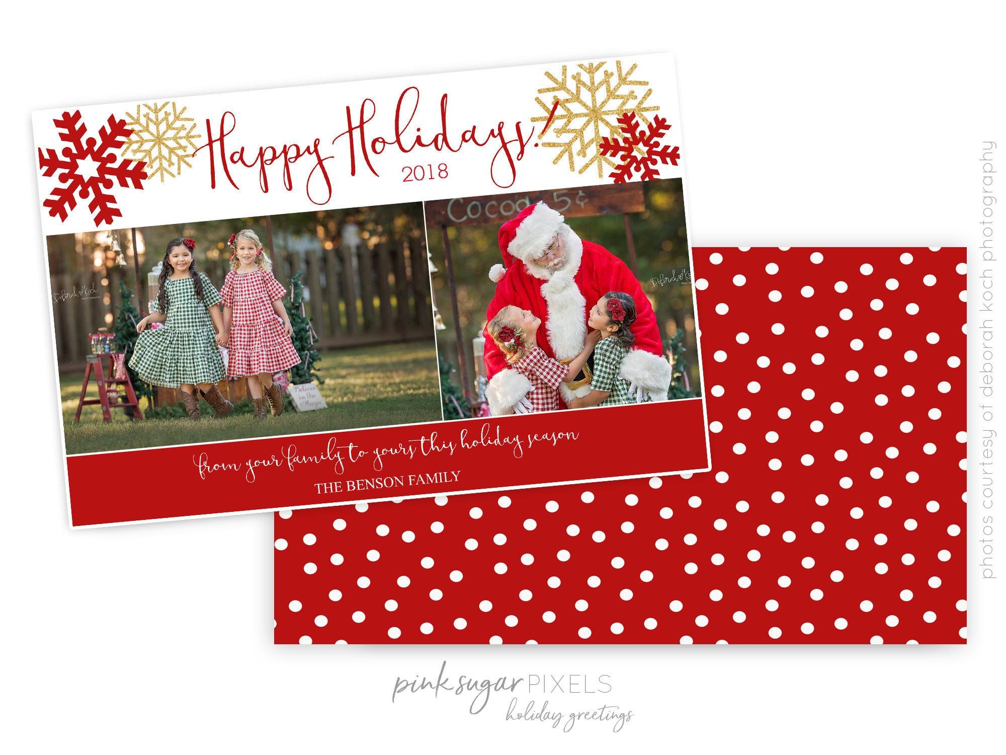 Christmas Cards Holiday Cards Custom Photo Christmas Cards | Etsy