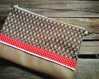 Flat or large clutch purse
