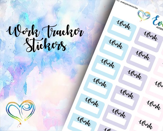 work trackers etsy