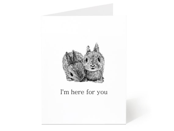 Friend Sympathy Card  Here for You Card  Supportive Card  Friend Support