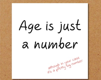 Funny Birthday Card 40th 50th 60th For Mum Dad Grandmother Grandpa Old Aged Age Humorous And Fun By Swizzoo