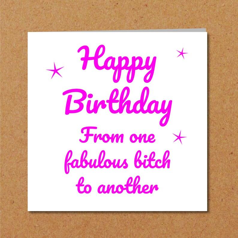 BEST FRIENDS Friendship Birthday Card Female Girl Friend