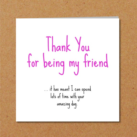 Birthday Card Thank You Card Or Friendship Card Thank You Etsy