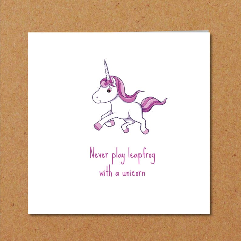 Funny UNICORN CARD Friendship Card Girl Friend Special