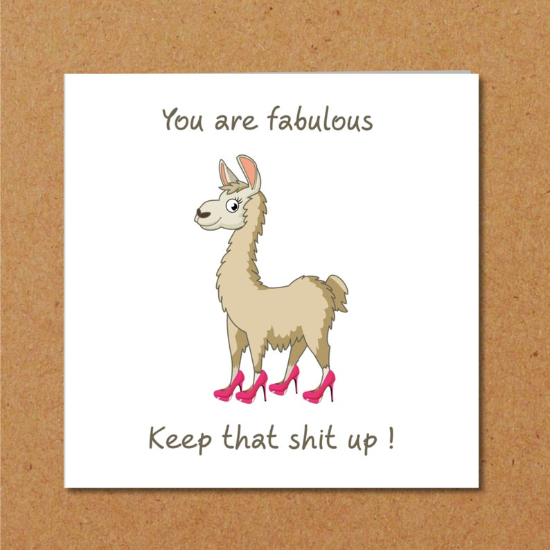 Girl Friend Birthday Card Girlfriend Mum Mom Best Daughter Special BFF Funny Humorous Llama Shoes