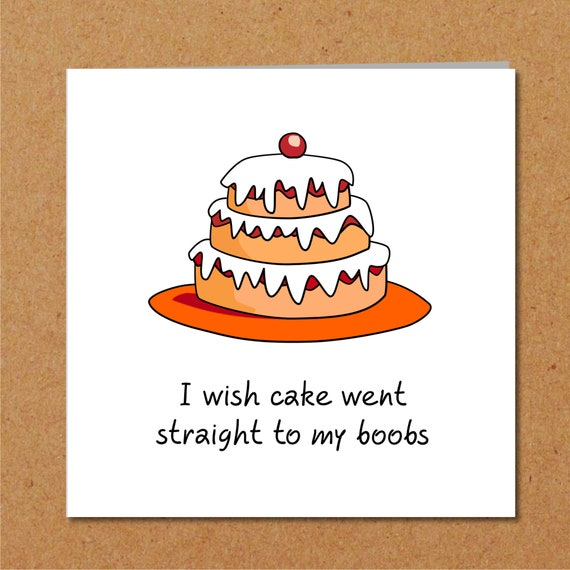 Outstanding Naughty Birthday Cake Card Girl Female Friend Funny Humorous Etsy Funny Birthday Cards Online Hendilapandamsfinfo