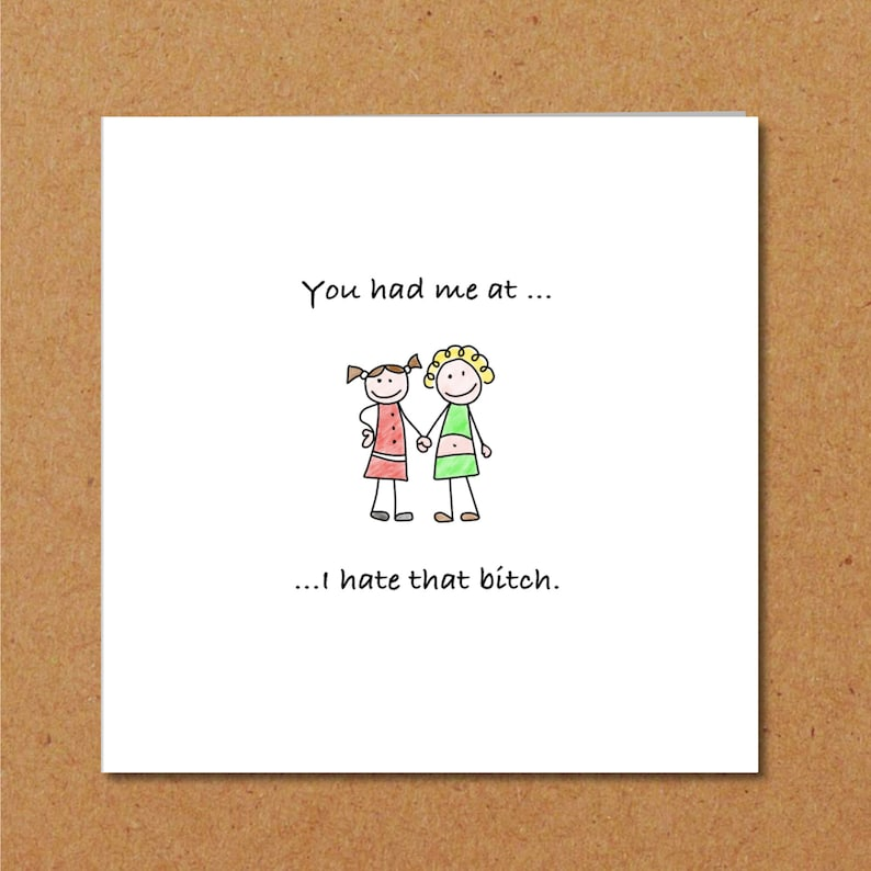 Funny Birthday Card For Girl Friend Female Any