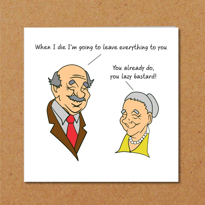 Funny Birthday Card 40th 50th 60th 70th For Wife Mum