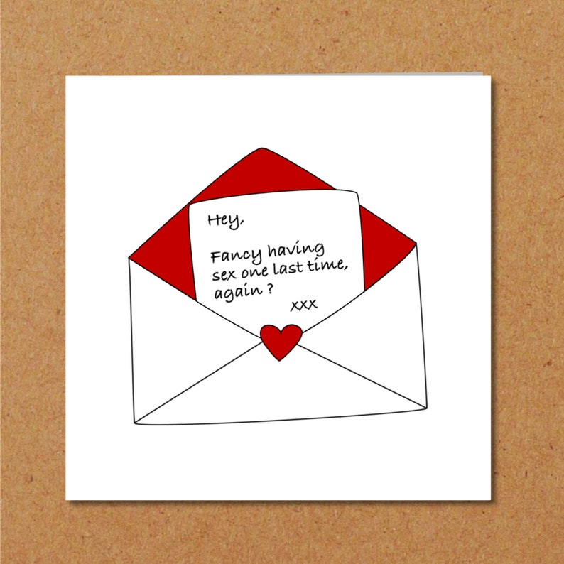 EXBF EXGF Birthday Valentine Or Anniversary Card For Ex