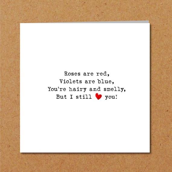Lustige Liebe Gedicht Valentinstag Karte Für Freund Ehemann Jubiläum Geburtstagskarte Lustige Unhöflich Humorvoll Gewagt Karte Liebe Dich
