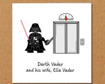 Star Wars Card - Birthday Darth Vader - Funny humorous humour amusing - Blank General Card