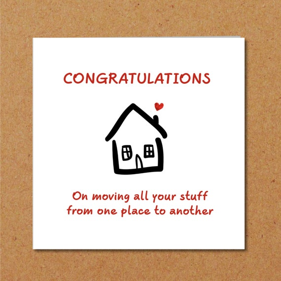 New Home Congratulations Card Moving House Flat Apartment Etsy